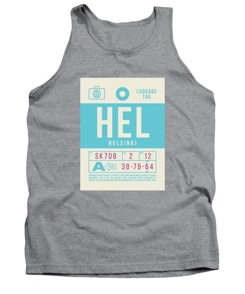 Retro Airline Luggage Tag 2.0 - Hel Helsinki Finland Tank Top