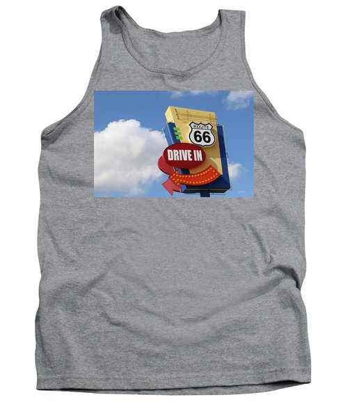 Route 66 Drive-in Sign Tank Top