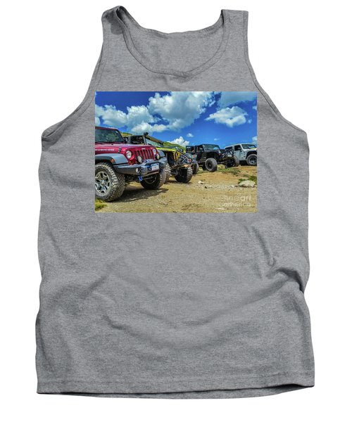 Row Of Jeeps Tank Top