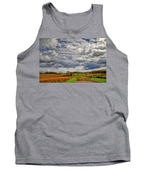 Tank Top featuring the photograph Rural New Paltz Hudson Valley Ny by Susan Candelario
