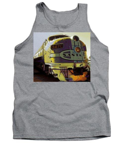 Santa Fe Railroad 347c - Digital Artwork Tank Top