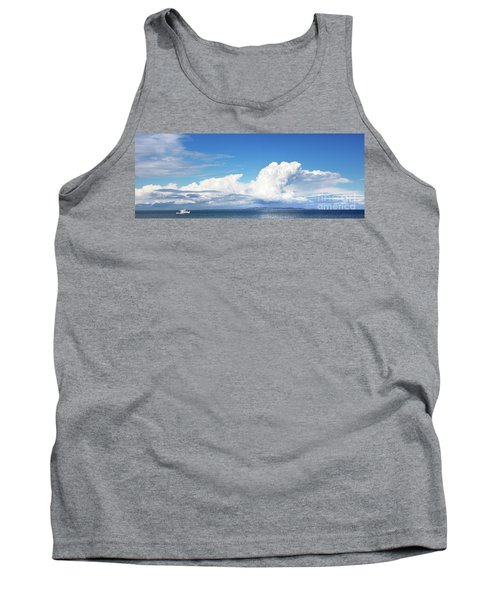 Small Boat And Big Sky Tank Top