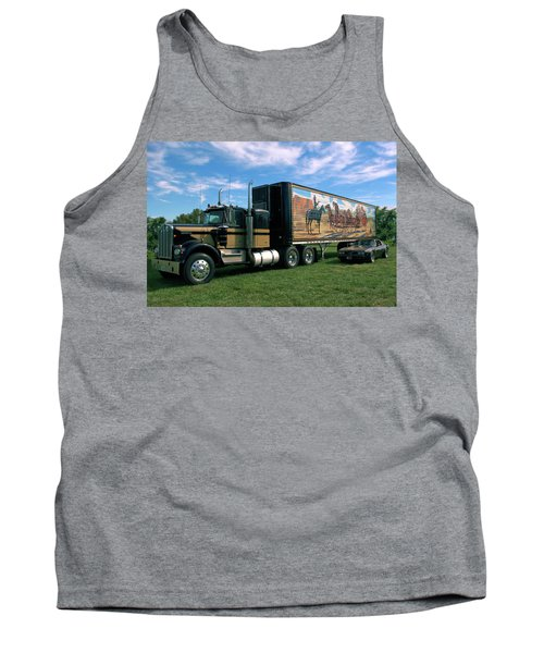 Smokey And The Bandit Tribute  Kenworth W900 Black And Gold Semi Truck Tank Top