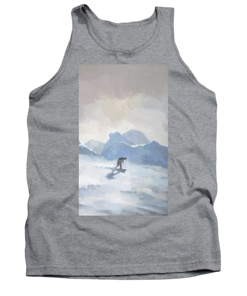 Snowboarding At Les Arcs Tank Top
