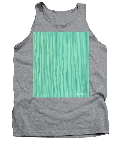Soft Green Lines Tank Top