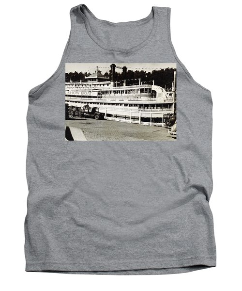 Steamboat Capitol, Show Boat, On Mississippi River In Arkansas 1935 Tank Top