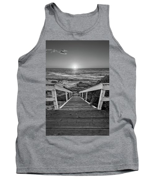 Steps To The Sun  Black And White Tank Top