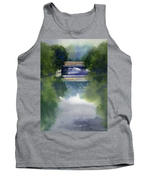 Stormy Day On Bridge Road Tank Top