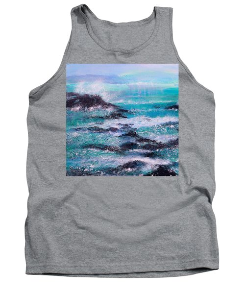 Stormy Sea With Breaking Waves  Tank Top