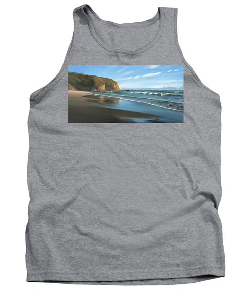 Strands Beach Dana Point Oil Painting Tank Top