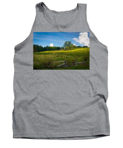 Blue Ridge Parkway - Summer Fields Of Yellow - Lone Tree Tank Top
