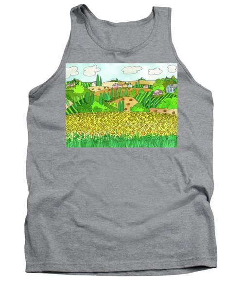 Sunflower French Countryside Tank Top