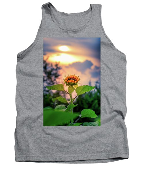 Sunflower Opening To The Light Tank Top