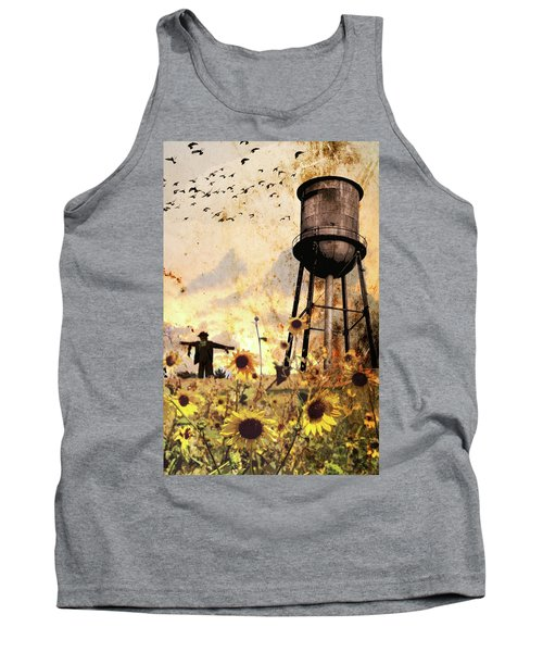 Sunflowers At Dusk Tank Top