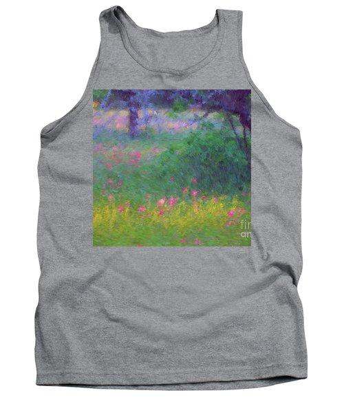 Sunset In Flower Meadow Tank Top