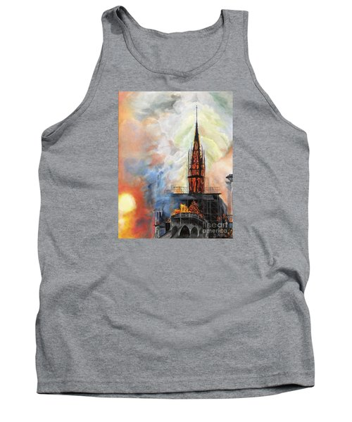 Sunset On Notre Dame Tank Top