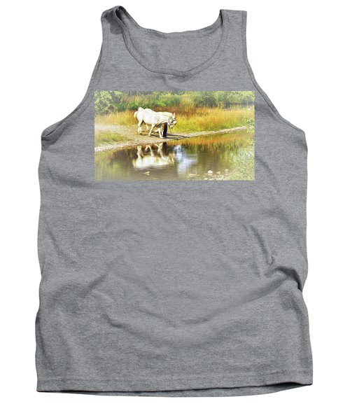 Leading The Horses To Water Tank Top