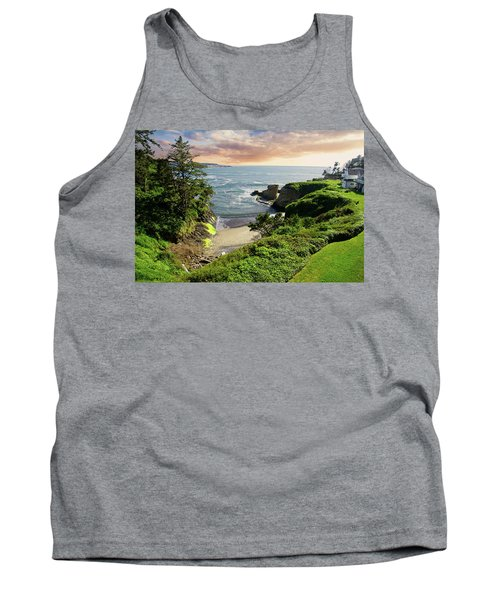 Tall Conifer Above Protected Small Cov Tank Top