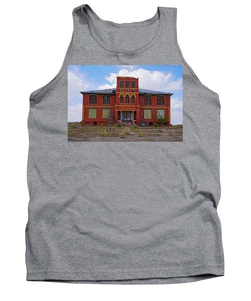 Texas Ghost Town School  Tank Top