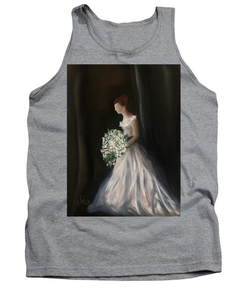 Tank Top featuring the painting The Big Day by Fe Jones