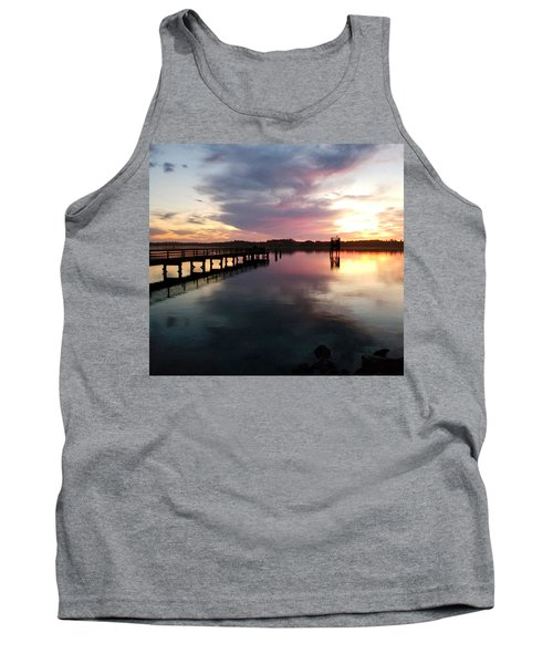 The Hollering Place Pier At Sunset Tank Top