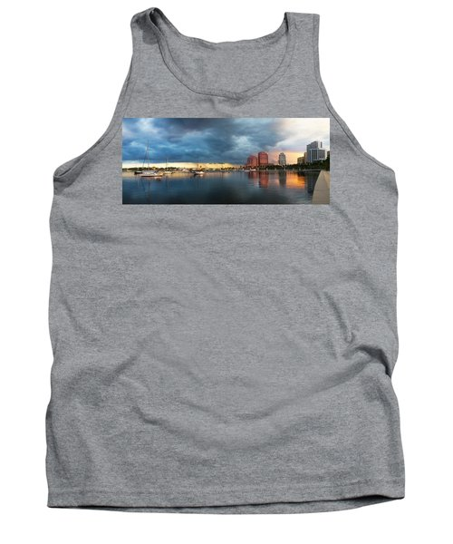 The Skyline Of West Palm Beach At Sunset Tank Top