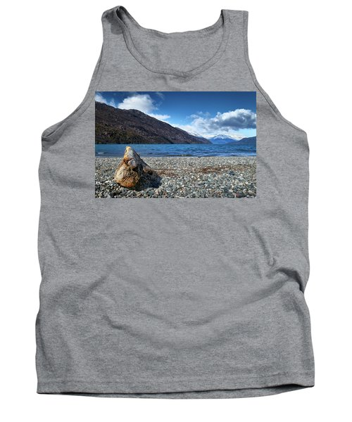 The Trunk, The Lake And The Mountainous Landscape Tank Top