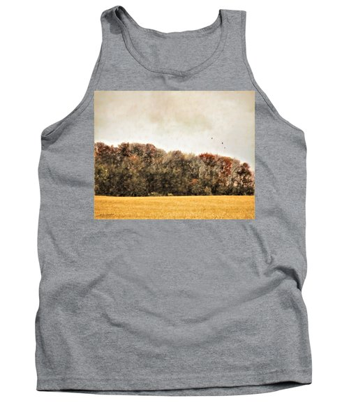 Three Crows And Golden Field Tank Top