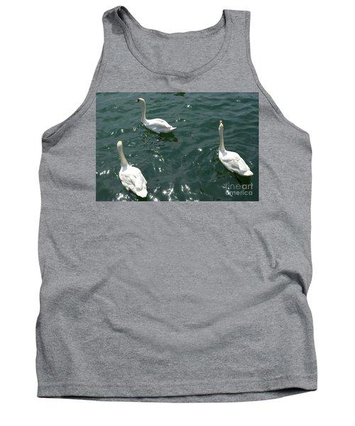 Three White Swans Tank Top