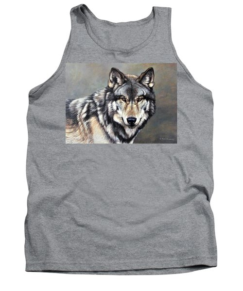 Timber Wolf By Alan M Hunt Tank Top