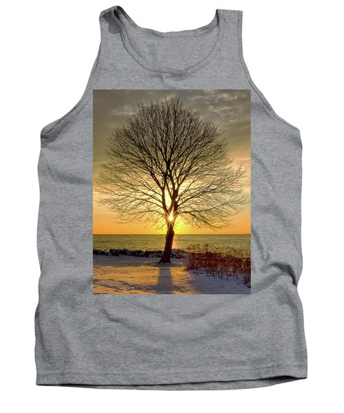 Tree Framed Sunrise New Hampshire Tank Top