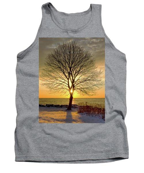 Tree Framed Sunrise New Hampshire Tank Top