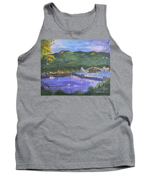 Twilight At Blue Bridges Tank Top