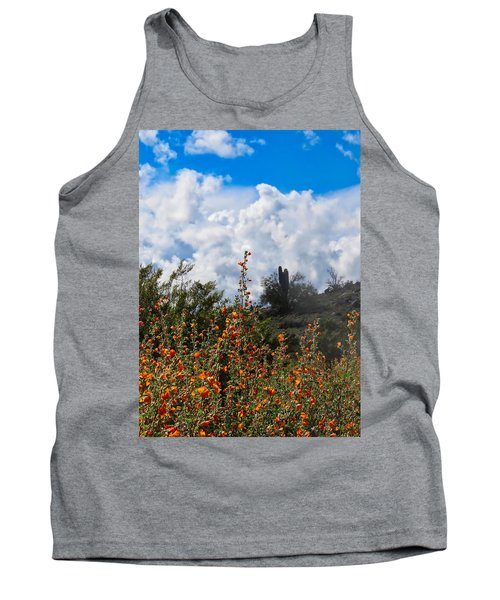 Under  A White Fluffy Cloud Tank Top