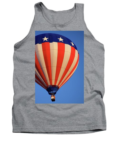 Usa Patriotic Hot Air Balloon Tank Top