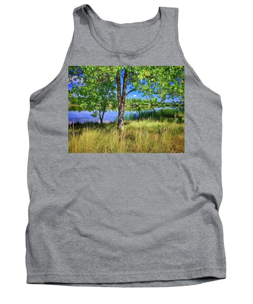 Tank Top featuring the photograph Viele Lake 4 by Dan Miller