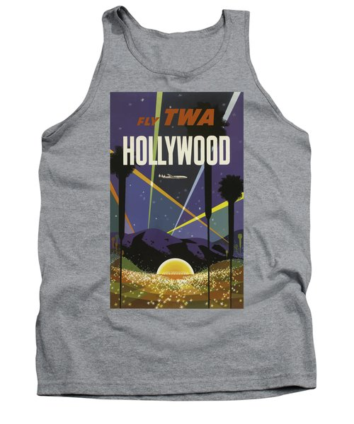 Vintage Travel Poster - Hollywood Tank Top