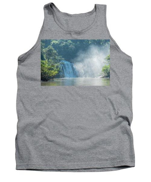Waterfall, Sunlight And Mist Tank Top
