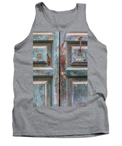 Weathered Rustic Green Door Of Cortona Tank Top