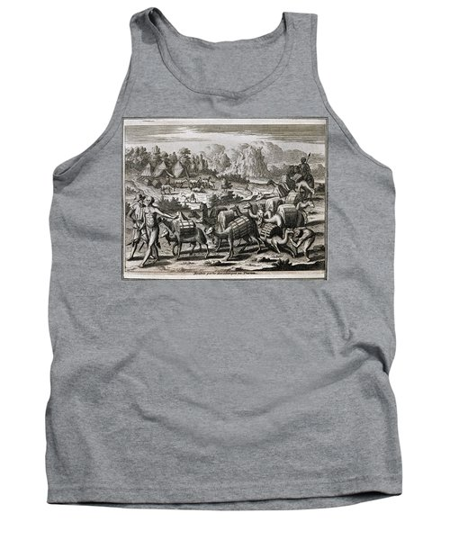 West Indian Travels - 1590 -america-part 4-llamas Carrying Silver From Potosi - 16th Century. Tank Top