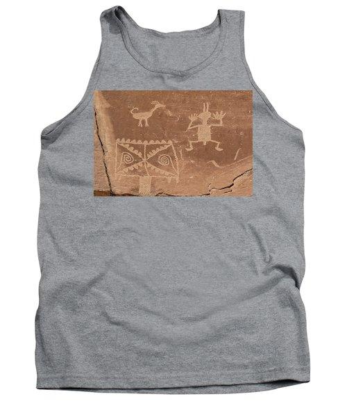 Whimsical Petroglyph Panel  Tank Top