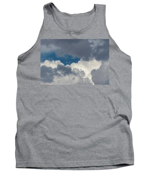 White And Gray Clouds Tank Top
