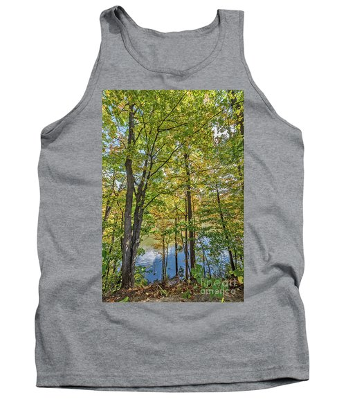 White Clouds Reflected In Rippling Water Tank Top
