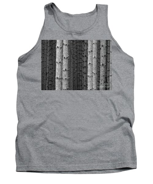 White Pines Black And White Tank Top