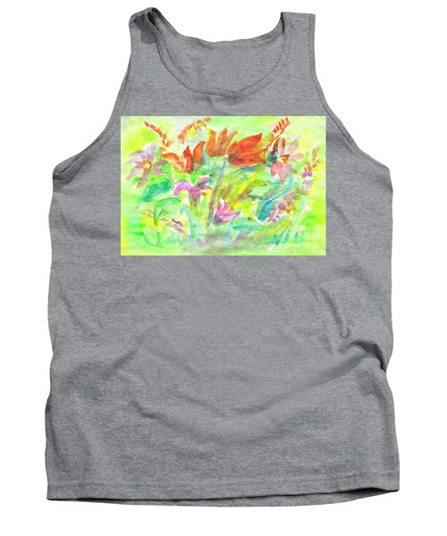 Wild Flowers In The Sunny Meadow Tank Top