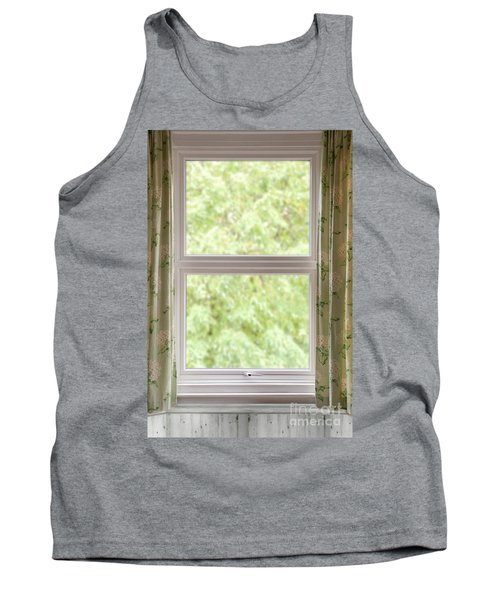 Window With Curtains Tank Top