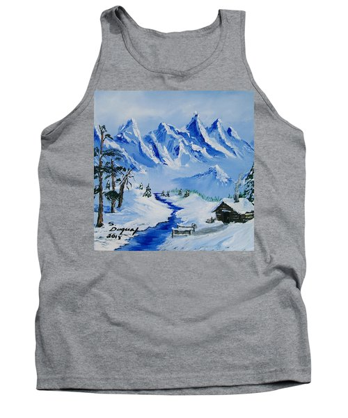 Winter In The Rockies Tank Top