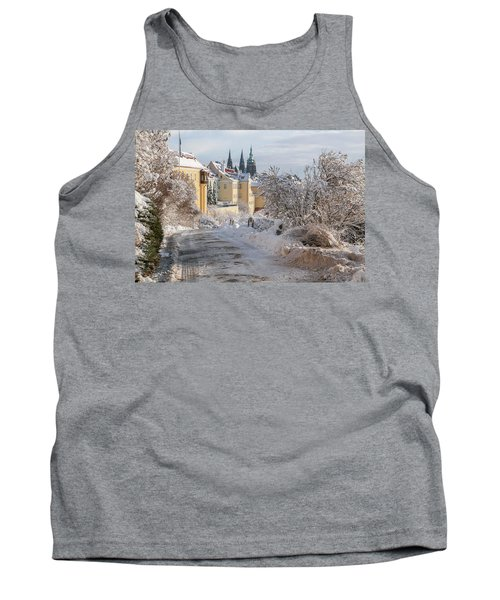 Winter View Of St Vitus Cathedral And Hradcany  Tank Top