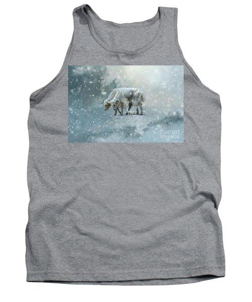 Yaks Calves In A Snowstorm Tank Top