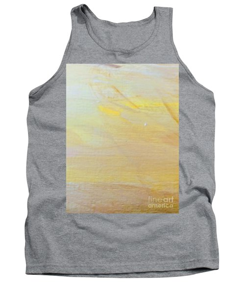 Tank Top featuring the painting Yellow #2 by Maria Langgle